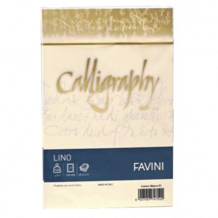 Carte di prestigio Calligraphy Lino - 11x22 cm