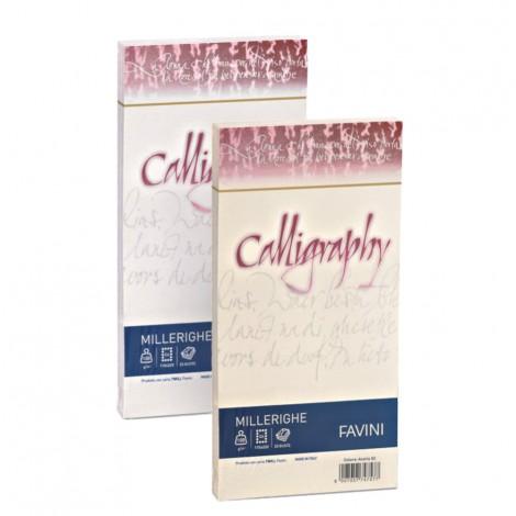 Carte di prestigio Calligraphy Millerighe - 11x22 cm