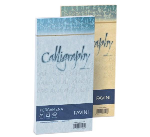 Carte di prestigio Calligraphy Pergamena - 11x22 cm