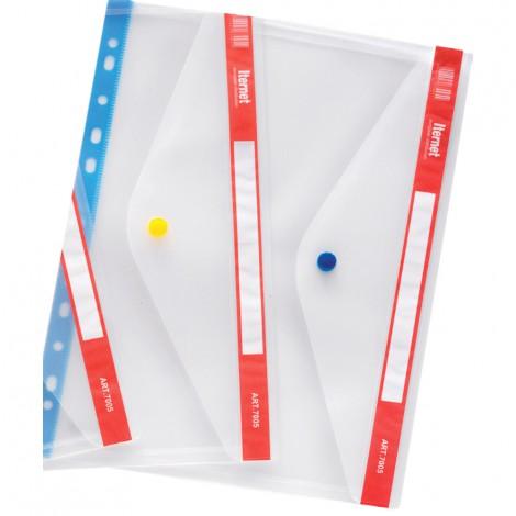 Busta con chiusura a bottone - 22x30 cm