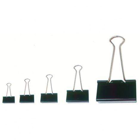 Molle fermacarte nere - 25 mm