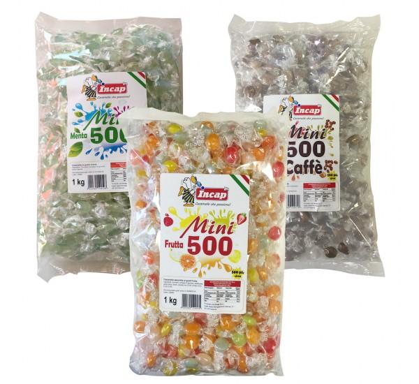 Mini 500 Caramelle gusti Frutta